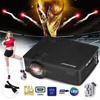 7000 Lumens EHD09 LED Projector 1080P HD HDMI/USB/SD/AV/VGA/3.5mm Home Cinema