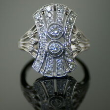 18ct White Gold Art Deco Style Diamond Ring Totalling 0.76ct and 4.4 grams of...