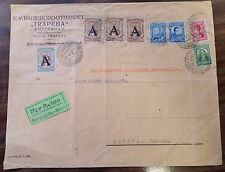 GERMANY COLUMBIA  SCADTA 1924 LARGE COVER CONSULAR OVERPRINTS RARE