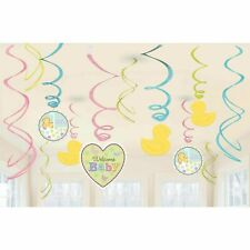 Tiny Bundle Baby Shower Swirl Decorations