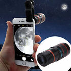Clip-on 8x Optical Zoom HD Telescope Camera Lens For Universal Mobile Phone New