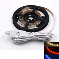 1M 5M SMD 5050 White Waterproof  LED Strip Light Flexible 3MTape With USB Switch