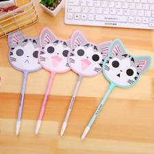 4PCS/lot Cute Kawaii Cat Fan Neutral Pens Stationery School Supplies Gel Pens