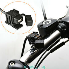 Motorcycle Motorbike USB 12V Charger Power Adapter Socket Waterproof For MP3 GPS