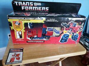 Optimus Prime Powermaster 1988 Transformers Hasbro Action Figure in box