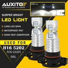 AUXITO 2X 5202 H16 LED Fog Light Bulbs 6000K Xenon White 3000LM High Power 4M EA