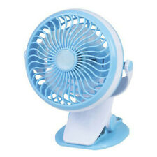 Portable Lightweight Mini Rechargeable Fan w/ Speed Control and Clamp Mount