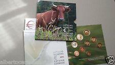 2016 LETTONIA 9 monete 3,88 + 2 EURO mucca Lettonie Lettland Latvia Letonia