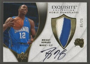2007-08 UD Exquisite Noble Nameplates #NP-DH Dwight Howard EW Patch Auto 05/25