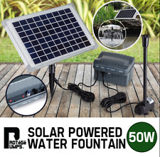 Premium 50W Solar Powered Fountain Water Pump with Battery Pond Kit Garden 800 L