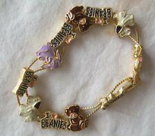 """I Love Beanies Slide Charm Bracelet 6"""" Long"""