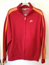 Nike Vintage 90s Full Zip Track Jacket Red Yellow Large NWOT China Team Running
