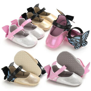 Newborn Infant Baby Girl Butterfly Crib Shoes First Step Shoes Crawling Shoes