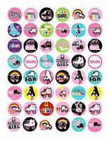 48 icing cake toppers decorations Mixed Roller skate disco skating