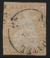Svizzera - 1854/62 - 20 rappen arancio - Unificato n.29 - usato
