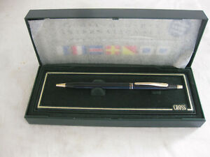 NOS CROSS Writing PEN & PENCIL in CASE & Sleeve GRAY w/black INK