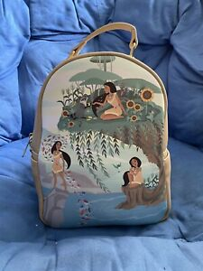 Loungefly Disney Pocahontas Scenery Mini Backpack New With Tags