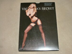 NIP Victoria Secret Satin Top Thigh High Stayup Stockings, Black, Size B