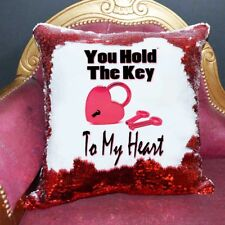 Key To My Heart Sequin Cushion Magic Reveal Mermaid |Wedding | Reversible sequin