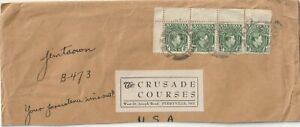 1937 Nigeria oversize part cover to Perryville MO USA
