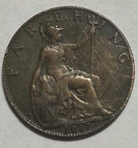 1917 UK Great Britain Farthing