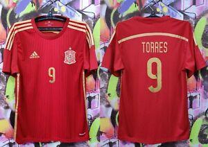 Spain National Football Team Fernando Torres #9 Soccer Jersey Shirt Mens size L