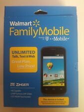 ZTE Zinger - 4GB - Black (Walmart Family Plan) Smartphone  BRAND NEW!!