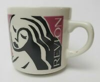 Revlon Coffee Mug Cup Woman Multi-Color Make-Up Holder Small 1980's