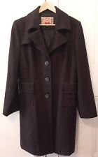 NEW Womens Winter Trench Coat collar Jacket Ouwear Fashion sexy Brown Size Large