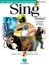 Sing Today Level 1 Beginner Vocal Singing Lessons Hal Leonard Book CD Pack
