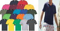 2,3,5 Pack Fruit of the Loom Mens Short Sleeve V Neck Original T Shirt Tee Top