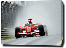 "MICHAEL SCHUMACHER CANVAS 30""x20"" ART PRINT POSTER PHOTO PICTURE F1 FERRARI"