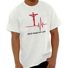 Men Women Jesus Christ Saved My Life T-Shirt Religious Clothing Faith Tee Cross