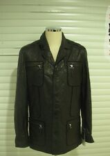 NWT Lanvin Italian  Men's Genuine High Quality Leather Jacket Size 56