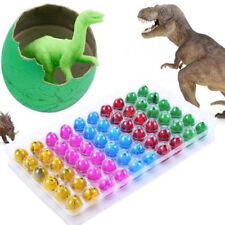 60pcs Colorful Magic Cute Hatching Growing Dinosaur Eggs Kids Toys