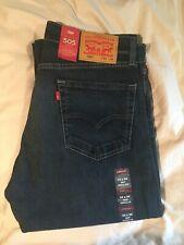 BRAND NEW Levis 505 Regular Fit Men's Jeans in Navarro-Dark Wash (#005051330)