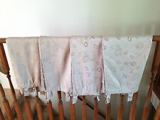 Allen Roth Set Of Four (4) Floral Champaign Back Tab Panel Drape Curtains  Allen Roth Curtains