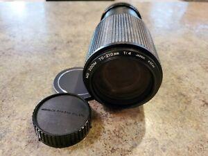 Vintage Minolta MD ZOOM 70-210mm f/4 SLR Camera Lens w End Caps