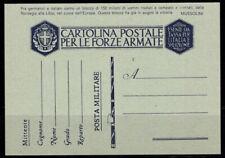 Kingdom of Italy 1941 Postal stationary 100% Fil. F 39 3, mint