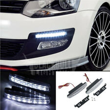 White Universal LED DRL Bright Show Glow Daytime Running Lights Side Mount