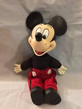 "Mickey Mouse 15"" Disney World doll toy vintage plastic"