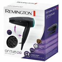 Remington 2000W Compact Travel Hair Dryer with Diffuser & Folding Handle - D1500