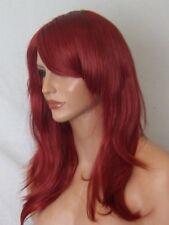 Red Donne Moda Medium Ondulata A Buon Mercato Costume Donna naturali Veri Capelli Parrucca L12