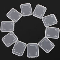 BG_ KQ_ 10Pcs Clear Plastic Standard SD SDHC Memory Card Case Storage Holder Box