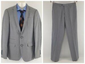 Calibre New Zealand Men's 2 Pieces Suit Chelsea 100% Wool Light Grey Sz 92R SU30