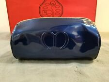Cle de Peau Glossy Metallic Dark Blue Cosmetic Makeup Bag Pouch NEW