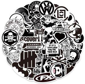 100pc Black White Stickers Graffiti Bomb Decal Pack Car Laptop Skateboard UK NEW