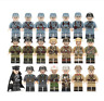 New WW2 Military Soldiers France US Britain Army + Weapon for Lego Minifigures