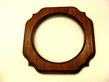 "Handmade wood  Photo Picture Frame-For round 8"" Picture- no glass"