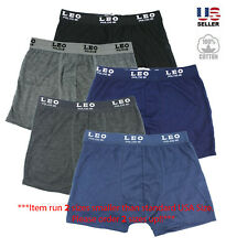 Lot 3 Men's Underwear 100% Cotton Boxer Briefs Trunks Shorts Classic Pack Casual